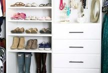 Closet Organization / Ideas for organizing your closets. Building a closet from scratch as well as tutorials for designing the ideal closet space.