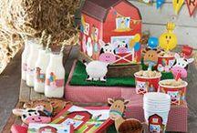 Boerderij kinderfeest - Farm kids party / Geef een boerderij kinderfeest! Wie gek is van dieren wordt er helemaal blij van!!!