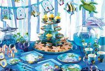 Oceaan feestje - Ocean party / Geef een kinderfeest met als thema 'oceaan, je kan hier zoveel leuke spelletjes bij verzinnen en wat denk je van de aankleding van het feest? Veel plezier!!!