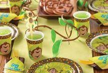 Apen kinderfeest - Monkey kids part / Geef een echt apen kinderfeestje! Hoeveel kids er gek zijn op apen, dat feestje valt zeker in de smaak!