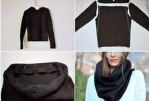 Re-Fashion - Sweater-Pullover gone wild / DIY All made of old Sweater DIY Pullover restyling zu Taschen und mehr / by Silvia Belhadj