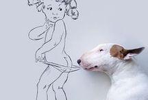 Bull terrier love!