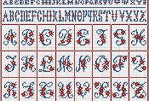 CROSS STITCH Alphabet / PUNTO CROCE - ALFABETO