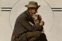 Norman Rockwell / Ilustrações de vários períodos deste grande artista.