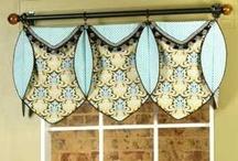 Ruth Valance / curtains, shades, valances, drapes, curtain rods, brackets, tiebacks, medallions, hardware, knobs, finial, sewing patterns
