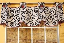 Julia Valance / curtains, shades, valances, drapes, curtain rods, brackets, tiebacks, medallions, hardware, knobs, finial, sewing patterns