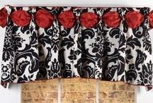 Dana Valance / curtains, shades, valances, drapes, curtain rods, brackets, tiebacks, medallions, hardware, knobs, finial, sewing patterns