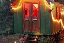 Vardo, Tiny House stuffs / gypsy, boho, bohemian, caravan, vardo, tiny house.