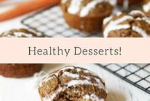 Healthy Desserts! / Easy healthy dessert recipes! Many of these are gluten free, vegan, and/no refined sugar free.