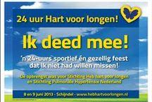 Portfolio: '24 uur Hart voor longen!' / Portfolio vormgeving t.b.v. het sponsorevenement '24 uur Hart voor longen!' voor Stichting 'heb hart voor longen'