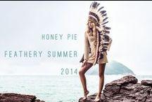 "feathery summer 2014 / campanha ""feathery summer"" da honey pie"