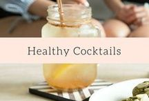 Healthy Cocktails / Healthy cocktail recipes made with vodka, rum, tequila and other liquors, and other healthy spike-able drinks.