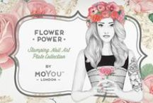 Flower Power Collection / Our plates are bursting with roses, lilies, daisies, hydrangeas, and peonies, just to name a few. The floral nail art collection also boasts loads of retro, exotic, and paisley-inspired patterns.
