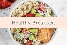 Healthy Breakfast / Recipe inspiration for a healthy breakfast! Includes idea for vegan, gluten free, and dairy free breakfast options.