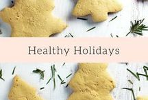 Healthy Holidays / Healthy Thanksgiving recipes, including desserts and sides to support clean eating over the holidays :)