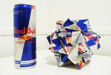Origami - Upcycled (Cans & Wrappers) / All materials are cut and hand-folded by Ben Goraj.