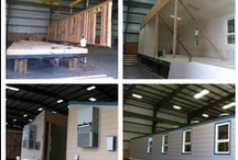 Before & After...Factory Built  / Factory built, Pre-fabricated building, modular building, however you want to say it.  We design & build it for you in our factory & deliver it, set & finish it...your done!