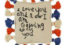 Love Pillows / Can't but love them, Children's artwork and sayings turned into the modern heirloom,