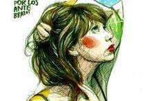 """Paula Bonet """"Convierte palabras y versos en dibujos frescos"""""""
