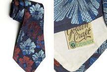 Vintage Men's Neckties, Bow Ties & Ascots / Vintage men's ties.