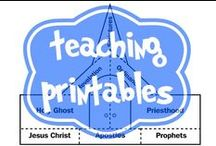 LDS Teaching Printables / LDS Printable goodies to use in class or in the home as handouts, visuals, bookmarks, or teaching helps.