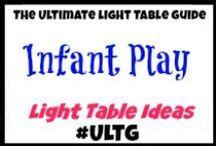 Light Table Infant Play / #ULTG #lighttable #lighttables #lightplay #homeschool #learning #teaching #lightbox #playingwithlight #sensory #infant #toddlers #toddlerideas #infantplay #infantplayideas #sensoryboxes #sensorybins #sensoryplay #slime #goop #gak #sillyputty #oobleck