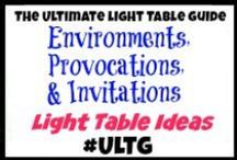 Light Table Environments, Provocations, and Invitations / Light table, light panel, light box  Environments, Provocations, and Invitations