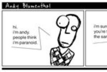 ANDY BLUMENTHAL / Andy is a Jew living in NY having. He has an unconfortable tendency: paranoia. Read the strips, love them, share the paranoia. Written and drawn by Marco Dispenza. #AndyBlumenthal #Comics #Strips