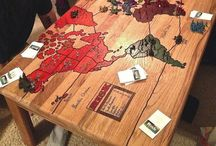 Board Game Tables / Amazing custom tables and furniture to make your game nights even better.