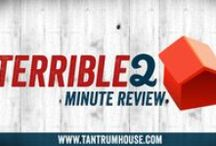 Tantrum House Board Game Video Reviews / Tantrum House Terrible 2-Minute Review videos about board games. Will and Ryan explain, critique, and rate popular board games, card games, and expansions.