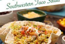 Mexican Dishes / Tacos / Enchiladas / Taco Salads