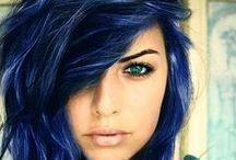 Blue Color Inspirations / Shades of Blue in Eyeshadow, Lipstick, Nail Polish, Hairstyles, Shoes, Accessories, and Fashion!