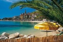 Menton  / Située aux confins de l'Italie, de la Principauté de Monaco et du Comté de Nice, Menton bénéficie d'un microclimat subtropical bienfaiteur qui lui fait presque ignorer l'hiver. Cité des Arts, choyée par la nature, en toute saison, on peut y profiter tant d'une mer souveraine que d'une montagne proche et ensoleillée.  Paradis des jardins, Menton est aussi une vitrine incomparable des architectures qui ont façonné cette Riviera secrète .