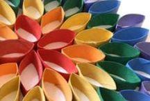 Manualidades-Reciclaje / Manualidades realizadas a partir de materiales de deshecho: cartón, telas, ropa, latas, botellas, etc. / by Caco Thomas