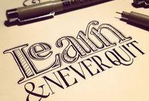 lettering..