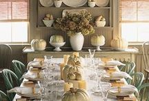 Dinner Table decor for thanksgiving Party