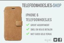 iPhone 6 telefoonhoesje / Wij hebben verschillende soorten iPhone 6 telefoonhoesjes. Zo zijn er iPhone 6 bookcases, iPhone 6 sleeves en iPhone 6 backcovers. Meer info? Kijk op telefoonhoesjes-shop