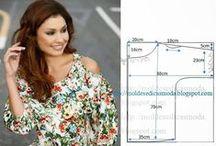 DIY BLUSA FÁCIL DE FAZER / Moldes de blusa fácil de fazer com medidas para que não tem impressora.