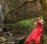 Water Fall shoot / A wonderful location shoot with the Talented  Model Elle Wilks ,with  makeup and hair by the amazing Sara Szpak-makeup artist.  Water fall, model, violin, music, water, Wales, Model, Neath , red dress, fresh water, photography  The stunning waterfall Location  is Melincourt Falls ,  a spectacular 80 feet high waterfall on Melin Court Brook, a left-bank tributary of the Neath River, located 1-mile south of Resolven in the county borough of Neath Port Talbot, south Wales.