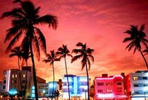 Miami / There's so much going on in Miami, making it one of the most popular vacation spots. This destination enjoys year-round sunshine, with an average temperature of 20C in winter!