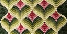 Broderi - canvas - Bargello