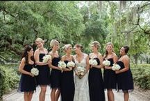 Wedding Parties / Great shots of the wedding party. Be inspired by the colors and dresses of the bridesmaids.