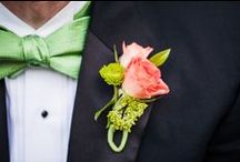 Loluma Boutonnieres / Dressin' up your man with a boutonniere.  It may be the only time he wears flowers in his life.