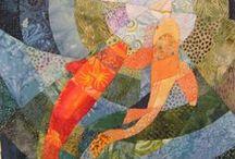 Koi Art / Koi, fish, Japanese art, design, linear art / by Ingrid Terpening