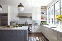 Kitchen Inspiration / Planning for my new house filling boards with ideas, images and colours