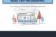 Travel Infographics / A collection of travel infographics.