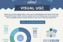 Visual Marketing Infographics / A collection of infographics about visual marketing related to captivating visuals and photos.