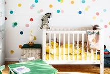 Bright Nursery Inspiration / Nursery ideas splashed with vibrant colours.