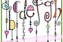 ZENTANGLE & DOODLE  ART / ART INSPIRATION / by Violet Macaluso