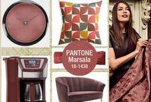 MARSALA, el color del 2015 / El marsala fue elegido por Pantone como el color 2015. Se trata de un tono marrón rojizo inspirado en los vinos sicilianos y que puede aplicarse en la decoración del hogar.